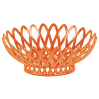 GET OB-940-RO Rio Orange Oval 10 inch x 8 1/4 inch Plastic Fast Food Basket - 12/Pack