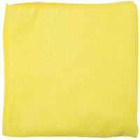 Unger MC40J SmartColor MicroWipe 16 inch x 16 inch Yellow Light-Duty Microfiber Cleaning Cloth