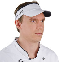 White Headsweats Customizable 7703-201 CoolMax Chef Visor