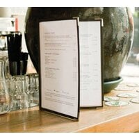 8 1/2 inch x 11 inch American Metalcraft Securit Two Pocket Menu Holder 3 / Pack