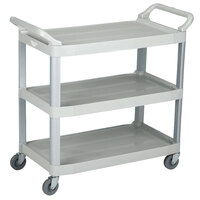 Vollrath 97006 Gray Multi-Purpose Utility Cart with Three Shelves