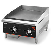 Vollrath 924GGM Cayenne 24 inch Heavy Duty Countertop Griddle with Manual Controls - 60,000 BTU