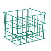 5 Compartment Catering Plate Basket for 10 inch Snack Plates - Store, Transport
