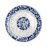 Blue Dragon 6 inch Round Melamine Plate - 12/Pack
