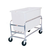 Winholt 30-8-SS/WH Stainless Steel Bulk Mover with 8 Bushel White Tub