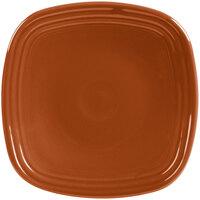 Homer Laughlin 921334 Fiesta Paprika 7 1/2 inch Square Salad Plate - 12/Case