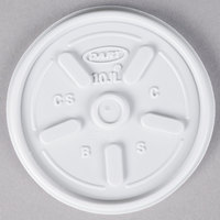 Dart 10JL White Vented Lid - 1000/Case