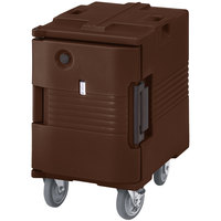 Cambro UPCHW400131 Dark Brown Ultra Pan Carrier Heated Holding Pan Carrier with Casters - 110V