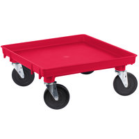 Vollrath 1697-02 Traex Red Rack Dolly Base (No Handle) - 21 inch x 21 inch