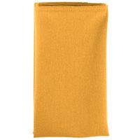 18 inch x 18 inch Gold Hemmed Polyspun Cloth Napkin - 12 / Pack
