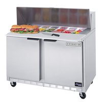 Beverage Air SPE48-08C 48 inch Refrigerated Salad / Sandwich Prep Table with Cutting Top