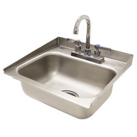 Advance Tabco DI-1-30 Drop In Stainless Steel Sink with 2 inch Tapered Side Splash - 14 inch x 10 inch x 5 inch Bowl
