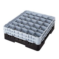 Cambro 30S318110 Black Camrack 30 Compartment 3 5/8 inch Glass Rack