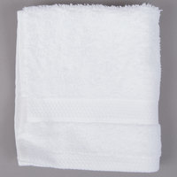 Lavex Lodging 13 inch x 13 inch 100% Combed Micro Cotton Hotel Washcloth 1.5 lb. - 12/Pack