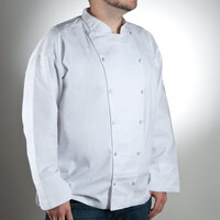 Chef Revival J015-4X Chef-Tex Size 60 (4X) White Customizable Cuisinier Chef Jacket
