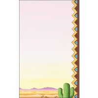 8 1/2 inch x 11 inch Menu Paper - Southwest Themed Cactus Design Right Insert- 100/Pack