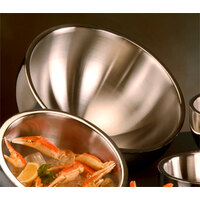 American Metalcraft AB14 304 oz. Double Wall Angled Insulated Serving Bowl - Stainless Steel