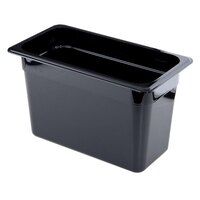 Cambro 38CW110 Camwear 1/3 Size Black Food Pan - 8 inch Deep
