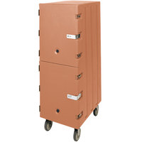 Cambro 1826DBCSP157 Camcart Beige Double Compartment Food Storage Box Carrier with Security Package
