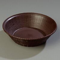Carlisle 652401 WeaveWear Brown Round Plastic Serving Basket 9 inch - 1.6 Qt. - 12/Case