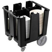 Cambro DCS1125110 Black Versa Dish Caddy - 4 Column