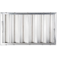 All Points 26-3892 12 inch x 20 inch x 2 inch Aluminum Hood Filter - Ridged Baffles