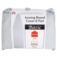 Silver Silicone-Coated Ironing Board Cover with Storage Pocket for 14 inch x 54 inch Ironing Boards