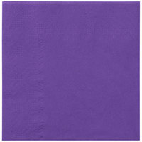 Hoffmaster 180339 Purple Beverage / Cocktail Napkin   - 250/Pack