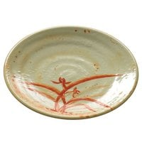 Thunder Group 1712 Gold Orchid 11 3/4 inch Round Melamine Plate - 12/Pack