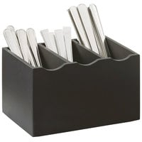 Cal-Mil 1244-96 Midnight Flatware Display - 8 1/4 inch x 5 1/2 inch x 4 3/4 inch