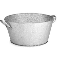 Tablecraft GT1515 Galvanized Steel Round Beverage Tub - 18 1/2 inch x 15 inch x 7 inch
