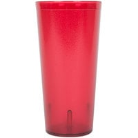 24 oz. Red Pebbled Plastic Tumbler - 12/Pack