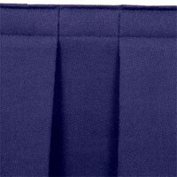 National Public Seating SB8-36 Navy Box Stage Skirt for 8 inch Stage - 36 inch Long