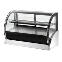 Vollrath 40853 48 inch Curved Glass Refrigerated Countertop Display Cabinet