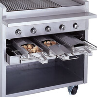 Bakers Pride 21884847-72GS Glo-Stone Charbroiler Stainless Steel Smoke Box