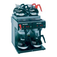 Bunn CWTF 4/2 Twin 12 Cup Automatic Coffee Brewer with 4 Upper and 2 Lower Warmers - 120/240V (Bunn 23400.0011)