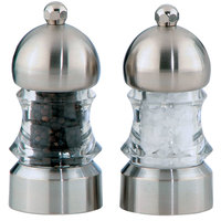 Chef Specialties 01572 3 1/2 inch Metro Acrylic Pepper Mill / Salt Mill Set