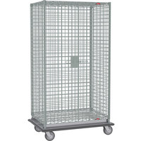 Metro SEC53LC Chrome Mobile Heavy Duty Wire Security Cabinet - 38 1/2 inch x 28 1/16 inch x 68 1/2 inch