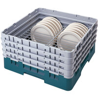 Cambro CRP141012414 Teal Full Size PlateSafe Camrack 10 1/2-12 1/2 inch