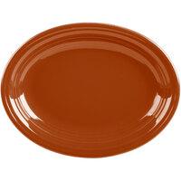 Homer Laughlin 457334 Fiesta Paprika 11 5/8 inch Platter - 12/Case
