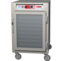 Metro C5Z65-SFC-SPFC C5 Pizza Series Pass-Through Insulated Heated Holding Cabinet - Half Size with Clear Doors 120V