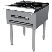 Garland SP-1844 Liquid Propane Countertop Stock Pot Stove with 6 inch legs - 45,000 BTU