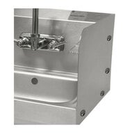 Advance Tabco 7-PS-27C Bolted Side Splash for 16 inch x 14 inch  and 16 inch x 20 inch Sinks - 7 3/4 inch High