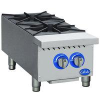 Globe GHP12G 12 inch Countertop Gas Hot Plate - 44,000 BTU
