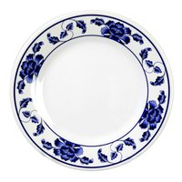 Lotus 7 7/8 inch Round Melamine Plate - 12 / Pack