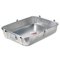Vollrath Wear-Ever 68362 29.5 Qt. Aluminum Roast Pan Bottom with Straps and Handles (Bottom) - 24 inch x 18 inch x 4 3/4 inch