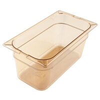 Carlisle 3086213 StorPlus 1/3 Size 6 inch Deep High Heat Food Pan - Amber