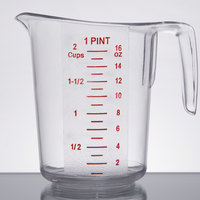 1 Pint Clear Plastic Measuring Cup