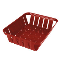 Carlisle 4403105 Stackable Red Munchie Basket 10 3/8 inch x 8 inch - 12/Case