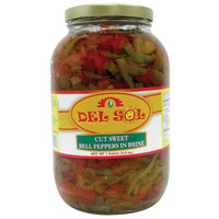 Del Sol 1 Gallon Cut Sweet Peppers   - 4/Case